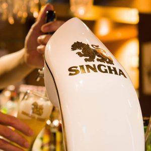 名古屋駅でのランチ・ディナーにおすすめ。本格タイ料理店「マイペンライ名駅店」。タイビール「生シンハー」専用サーバーの画像