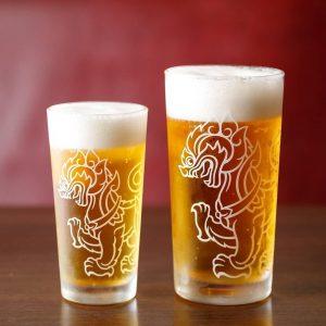 名古屋駅でのランチ・ディナーにおすすめ。本格タイ料理店「マイペンライ名駅店」。ご飯と一緒に頼みたいビールの画像