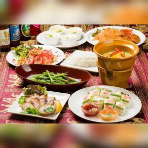 名古屋でのランチ、ディナーなどご飯利用におすすめタイ料理専門店「THAI FOOD・DINING マイペンライ 名駅店」で人気の「グリーンカレーコース」の画像