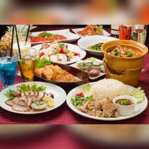 名古屋でのランチ、ディナーなどご飯利用におすすめタイ料理専門店「THAI FOOD・DINING マイペンライ 名駅店」で人気の「女子会コース」の画像