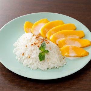 名古屋でのランチ、ディナーなどご飯利用におすすめタイ料理専門店「THAI FOOD・DINING マイペンライ 名駅店」で提供中のタイスイーツ「カオニャオマムアン」の画像
