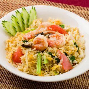 名古屋でのランチ、ディナーなどご飯利用におすすめタイ料理専門店「THAI FOOD・DINING マイペンライ 名駅店」で提供中の「海老チャーハン」の画像