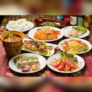名古屋でのランチ、ディナーなどご飯を食べるのにおすすめのタイ料理専門店「マイペンライ名駅店」でご提供中の人気コース「マイペンライコース」の画像